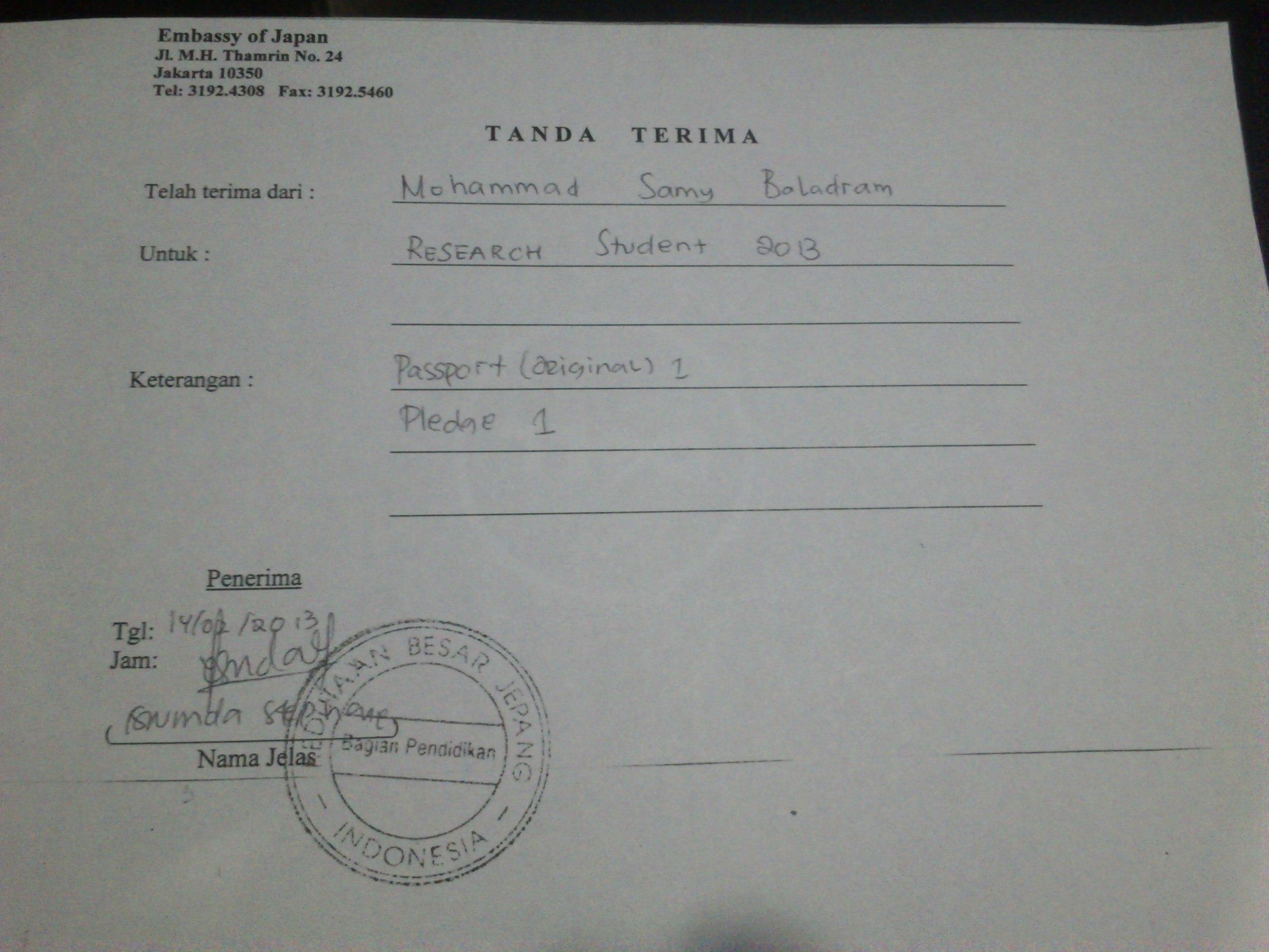 visa application port of entry japan